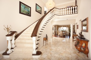 Dramatic Staircase and Foyer