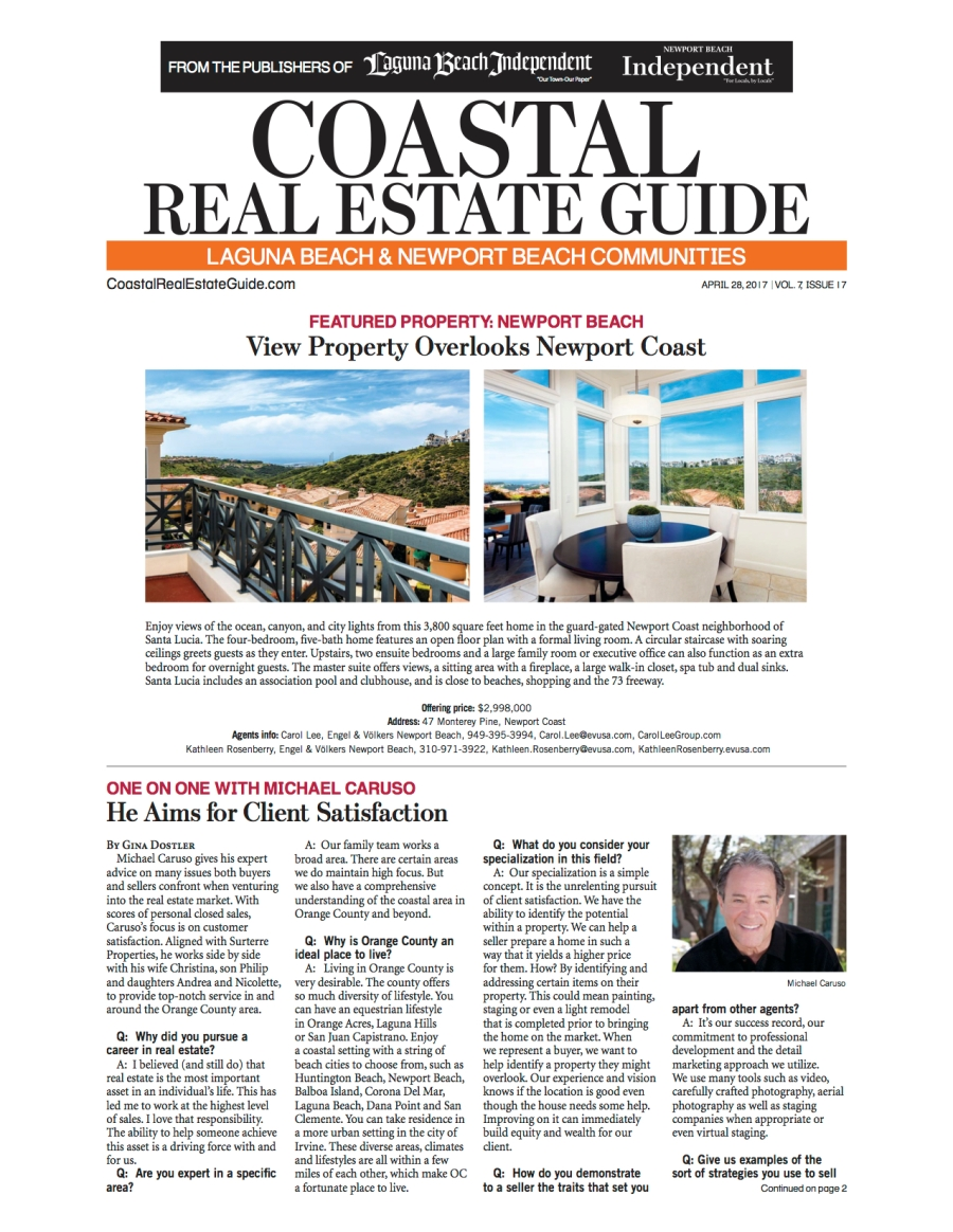 Coastal Real Estate Guide- Q & A with Michael Caruso